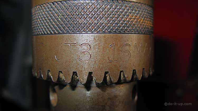 16mm Pillar Drill Chuck Markings