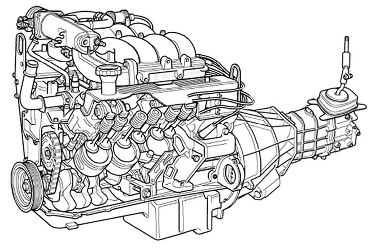 Land Rover - V8 Engine & Manual Gearbox