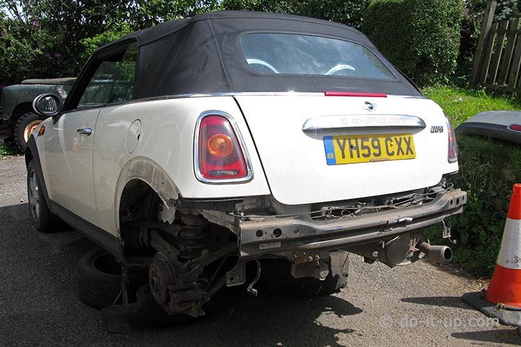 Mini R57 - Rear Bumper Removed