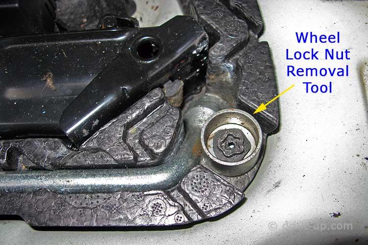 Wheel Removal - Wheel Lock Nut Removal Tool