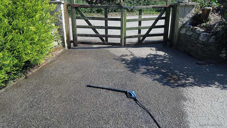 How to Repair a Driveway - Cleaning the Area (Power Washing)
