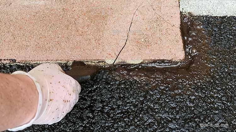 How to Repair a Driveway - Painting Bitumen