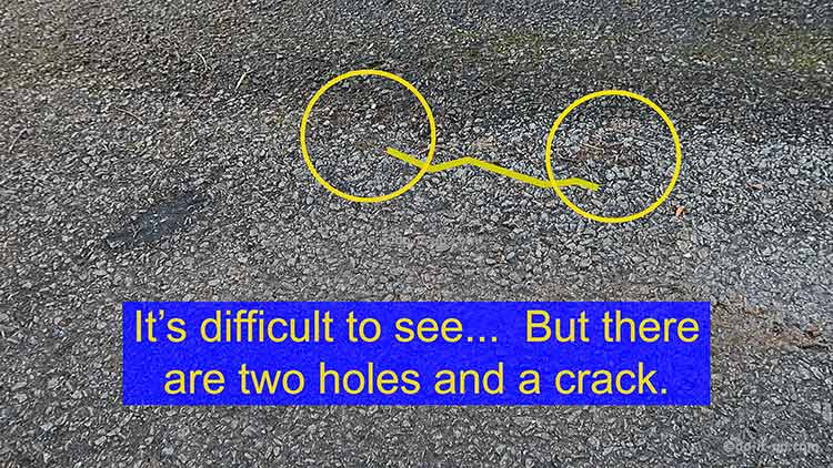How to Repair a Driveway - Two Holes and a Crack