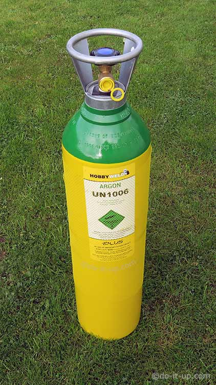 An Argon Gas Bottle (Cylinder)