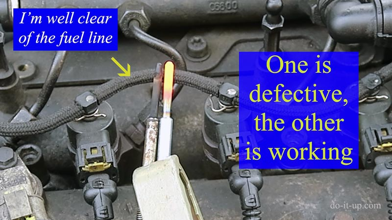 Testing Glow Plugs Removed from a Vehicle With a Jump Lead