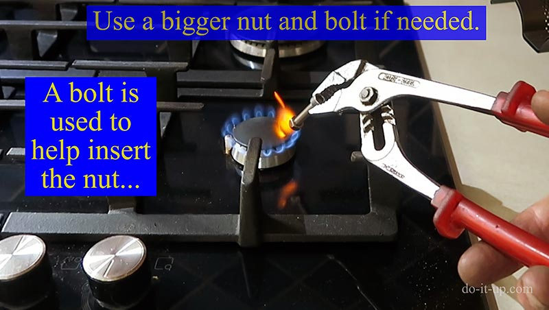 Heating a Nut to Repair the Mini Headlight Captive Nut Mounting Bracket