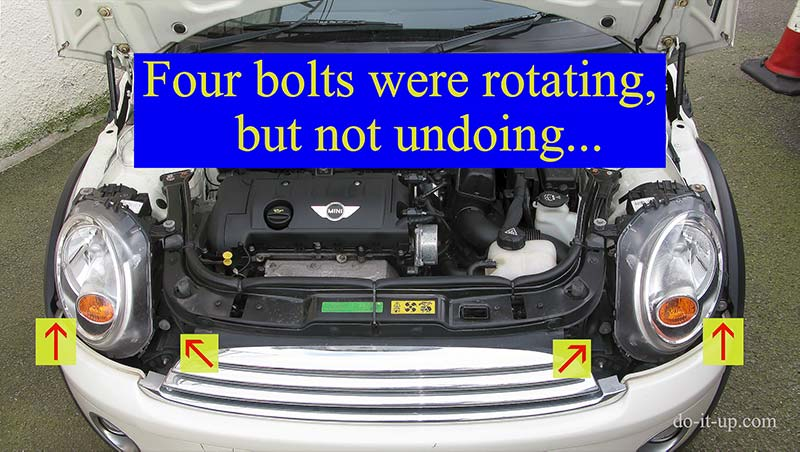 The Four Mini Headlight Bolts that Usually Seize