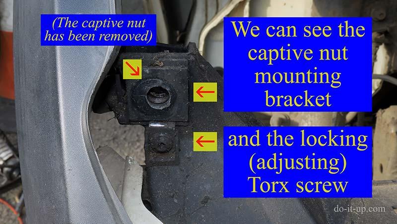 The Mini Headlight - Captive Nut Mounting Bracket